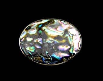 Abalone Pendant Brooch Alpaca Silver Mexico