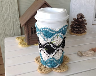 Bavarian Crochet Drink Cozy - Ready to Ship