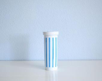 Lagardo Tackett Schmid Porcelain Japan Canister Creamer White and Blue Stripes