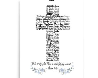 Gift for Nun, Catholic Gift, Catholic Teacher Gift, Priest Gift, Pastor Appreciation Gift, Pastor Gift, Cross Print
