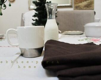 DISH TOWEL(set of 2) ...linen... Chocolate.
