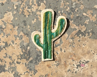 Large Hand Embroidered Cactus Patch