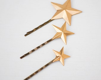 Star Bobby Pin Gold Star Hair Pin Gold Star Hair Clips Constellation Jewelry Zodiac Star Boho Bridal Hair Pin Gold Star Jewelry Gift for Her