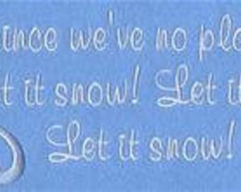 Snow Towel - Christmas Towel - Embroidered Towel - Let is Snow - Flour Sack Towel - Hand Towel - Bath Towel -  Apron
