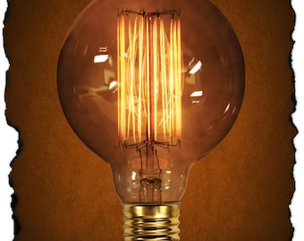 Globe Style G30 Vintage Antique Light Bulb 40 Watt