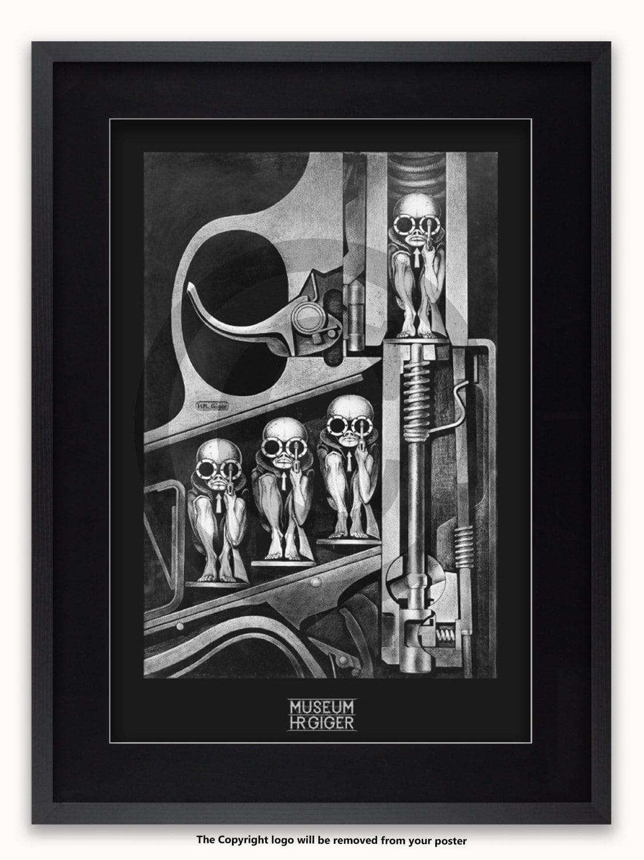Cartel del arte de H.R. Giger Birthmachine