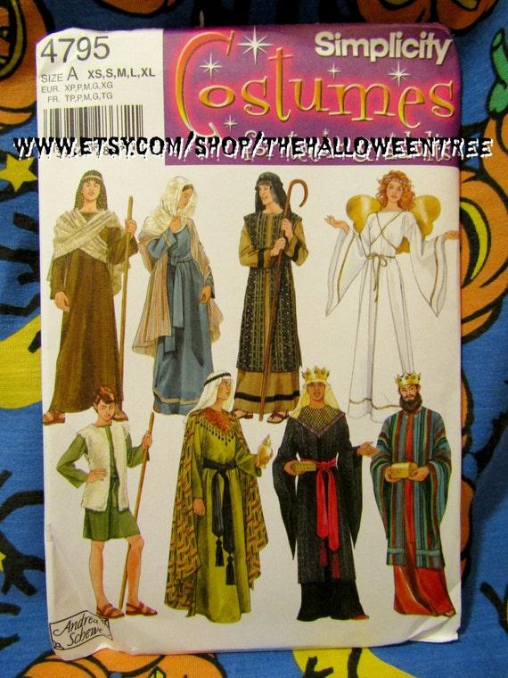 Simplicity 4795 Sewing Pattern Adult Nativity Costume School Three ...