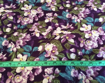 "Northcott, ""Mystic Garden""  Purple, by the half yard"