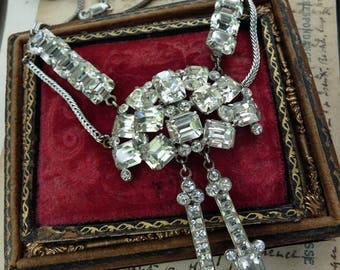SALE:  Vintage Rhinestone Necklace, offered by RusticGypsyCreations