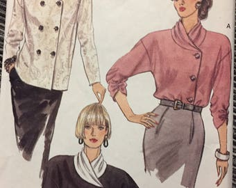 90's Misses' Blouses Vogue 7948 Sewing Pattern  size 14-18 Bust 36-40 inches   Complete Sewing Pattern