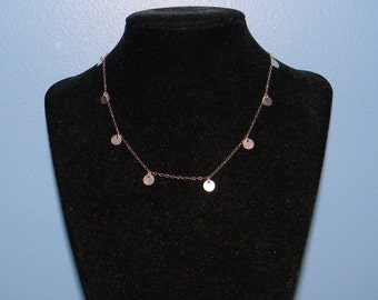 Sterling Silver Disc Necklace, Wanderlust Inspired Worn by Jennifer Aniston, 14, 15, 16, 17, 18 inch, Linda Gergenblatt, Jewelry Chain