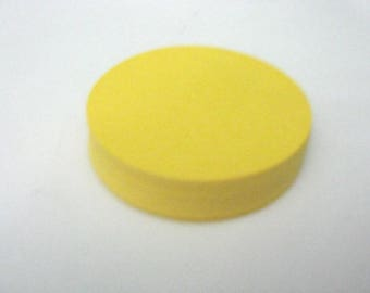 60 Yellow Circle Die Cut 2.5 Inch, Round Cut Out, Cardstock