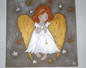 painting Angel girl for home decor
