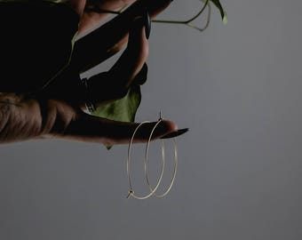 Minimal Hoop Earrings 14k Gold Filled