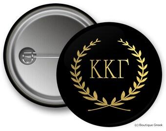 KKG Kappa Kappa Gamma Wreath Sorority Greek Button