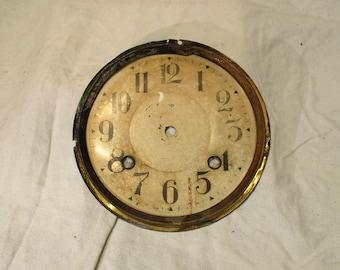 Clock Face, Antique Art Deco Era, with Stylized Arabic Numerals