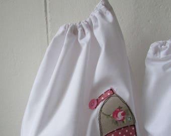 Drawstring bag for lingerie or shoes