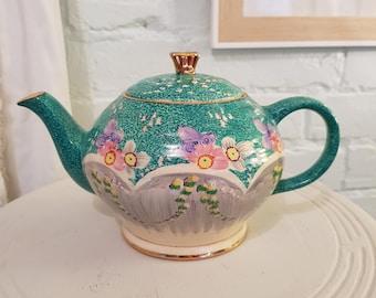 Rare Antique Teapot, Vintage signed 'JP'