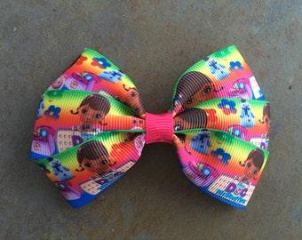 Super Cute Doc McStuffins Hair Bow Clip