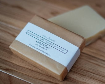 Unscented Kaolin Clay Handmade Soap All Natural Vegan Soap Avocado Oil Traditional 100g