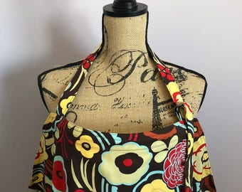 Brown Floral (Mocca) Nursing Apron