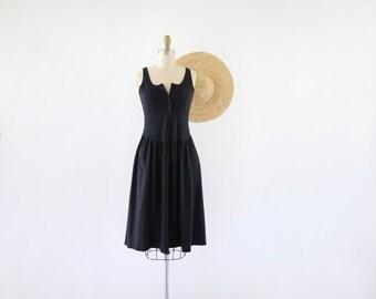 button tank dress / m