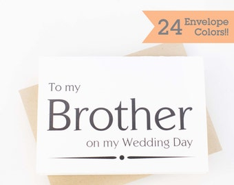 Wedding Card to your Brother, Wedding Cards, Thank you card for Brother (WC063-PR)