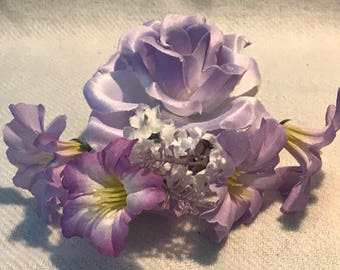 Light Purple Desire - Floral Hair Comb