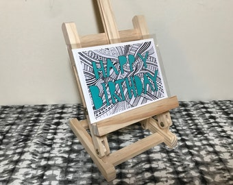 Happy Birthday Card - Birthday Greeting Card (Blank Inside)