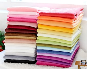 Soft Cuddle Minky Microfiber Fabric in 29 Solid Colors By The Yard