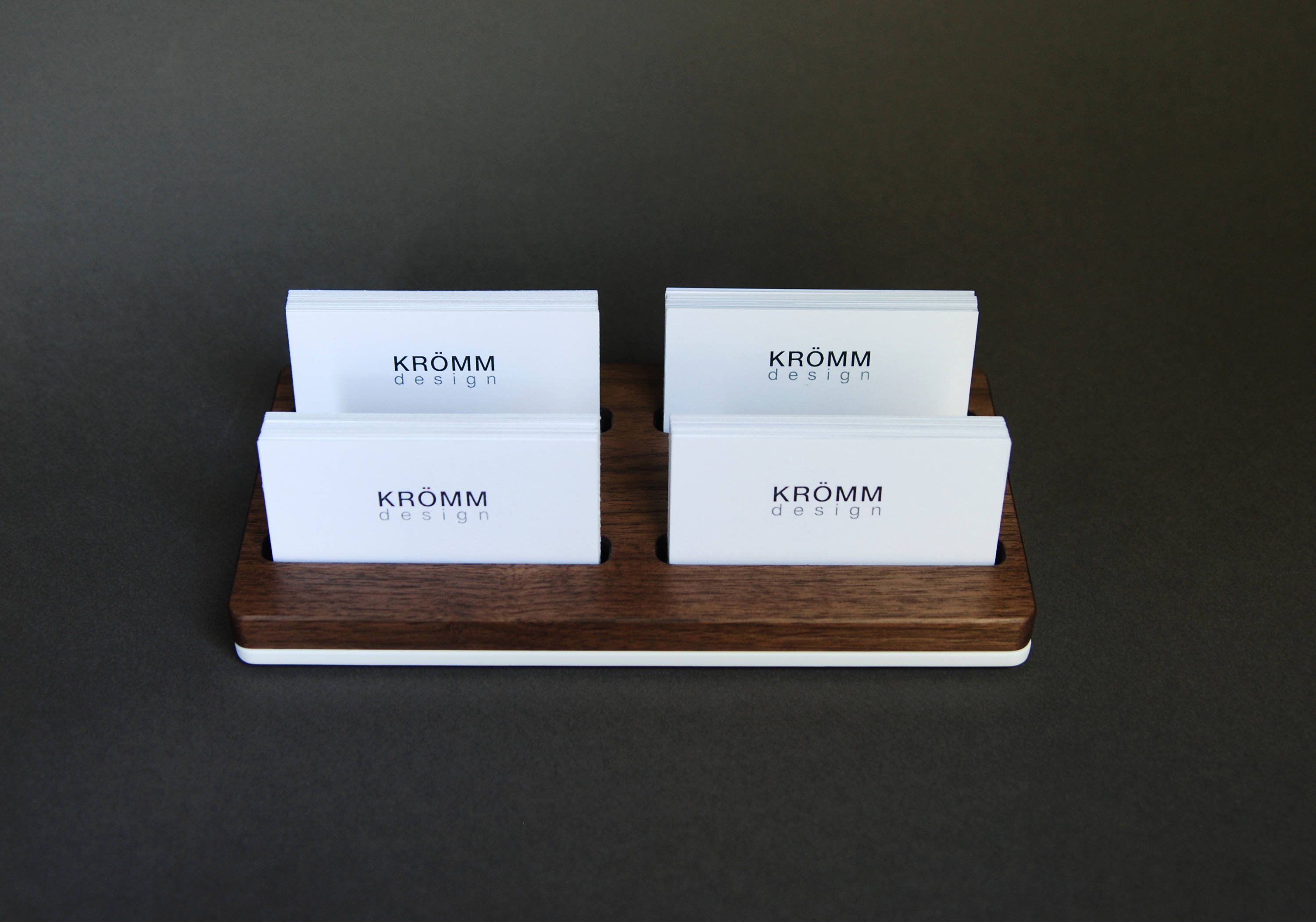 Wood two row business card holder for front desk wood business business card display walnut wood card holder gallery photo gallery photo gallery photo gallery photo colourmoves