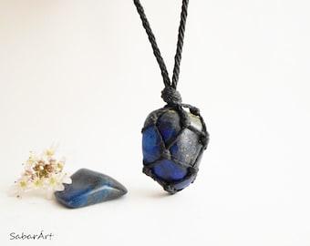 Men pendant etsy mens necklace jewelry for men lapis lazuli necklace lapis lazuli jewelry mens mozeypictures Images