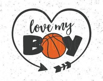 Love my boy svg, Basketball mom svg, Basketball mom svg file, Love my boy svg file, Basketball svg Basketball svg file Sport svg Silhouette