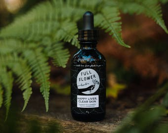Happy Liver, Clear Skin Wildcrafted Herbal Tincture