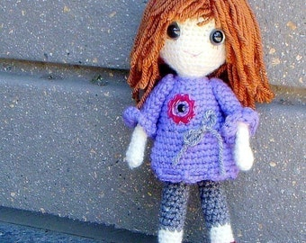 Vikki - Crochet Amigurumi girl doll pattern / PDF