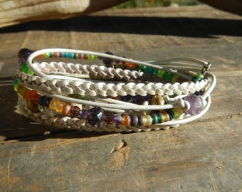 Leather Wrap Bracelet  Leather Wrap Wrap Bracelet Leather  Beaded Wrap Leather Bracelet  JEWELRY beaded wrap