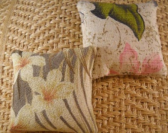 Vintage Barkcloth Lavender Sachets