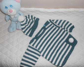 overall sweater and hat size 6-9 months