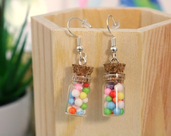 Earrings ~ colorful candy jar