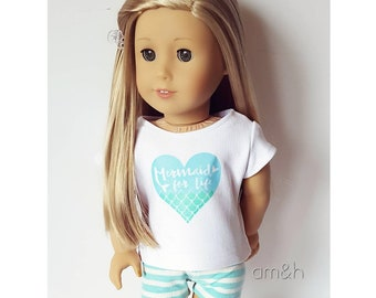18 inch doll clothes set - mermaid graphic set