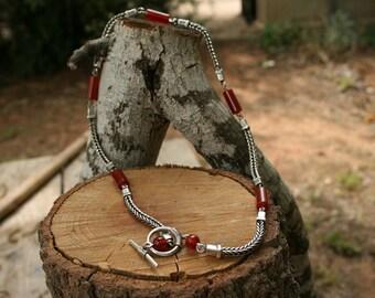 SALE - SALE -  Agate Necklace ,Silver Necklace, 925 Sterling Silver Necklace,Silver Jewelry,Regular Price 195 USD