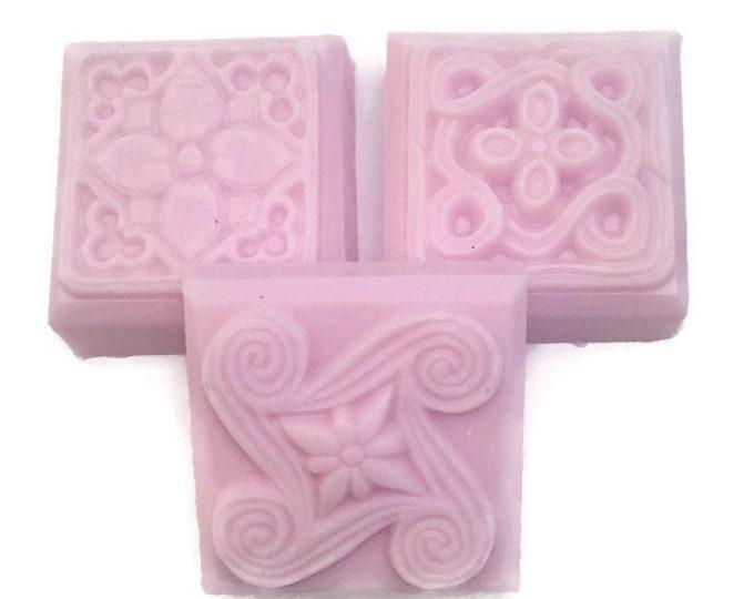 Handmade Soap, Shea Butter Soap, Lavender Scented Soap, Decorative Soap Bars, Scented Soap Bars, Soap Favors, Pink Soap