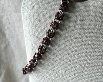 Brown Byzantine chainmaile bracelet