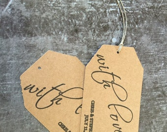 With Love Paper Tags -Qty 50 per order