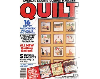 Quilt Magazine Spring 1981 Volume 3 No.1 Patterns-A New Approach to Quiltmaking/Calico Treasure Box/Animal Crib Quilt/Dove Pillow/Maple Leaf