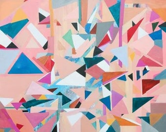 Abstract Art Painting Geometric pink- original and prints