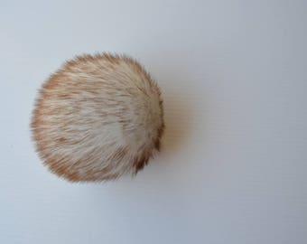 SALE Toasted Marshmallow Faux Fur Pom Pom