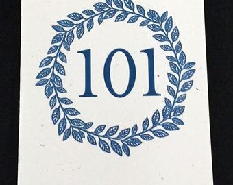 Masculine 101st Birthday Card, Laurel Wreath Birthday Card, Blue, Birthday Card for Dad, Card for brother, Card for Grandfather