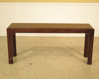 37108E: DREXEL HERITAGE Oak Continental Style Sofa   Console Table