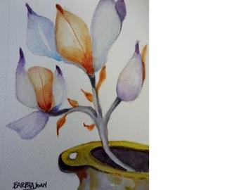 Watercolor Floral, original watercolor,